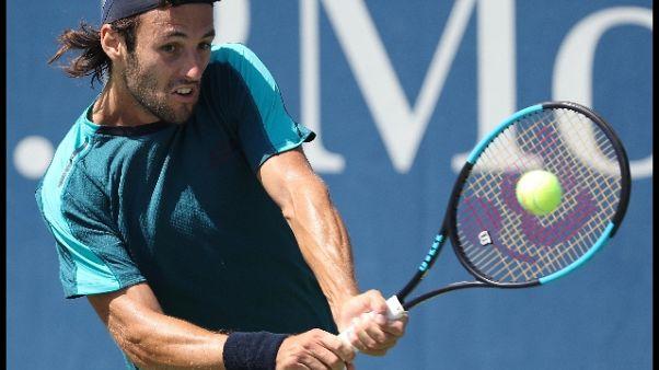 Tennis:Us Open,Travaglia fuori,si ritira