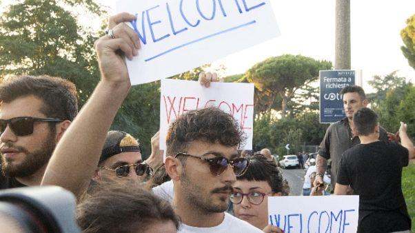 Pullman migranti a Rocca di Papa