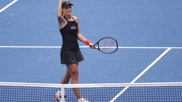 Kerber banishes U.S. Open hangover with first round win