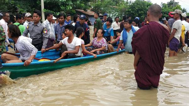 More than 50,000 evacuated in Myanmar as homes, shops flooded after dam fails