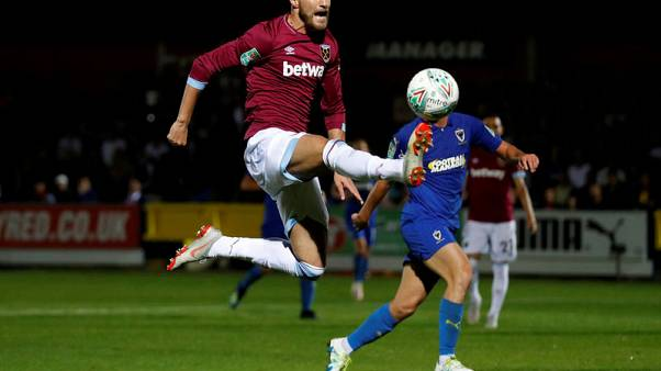 West Ham survive League Cup scare, Cardiff knocked out