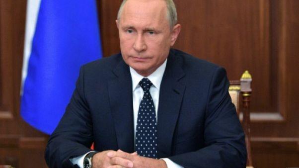 Le président russe Vladimir Poutine à Moscou, le 29 août 2018