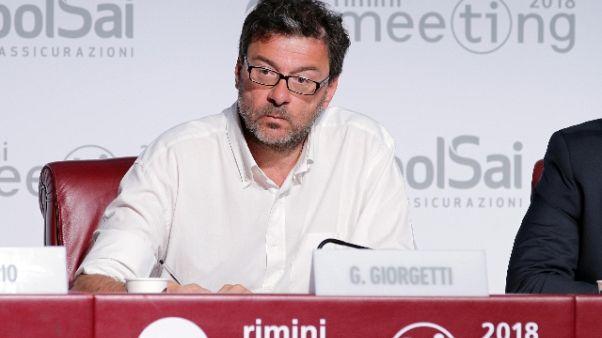 Figc: componenti pro-voto da Giorgetti