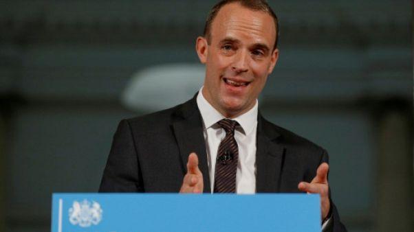 Le secrétaire d'Etat au Brexit Dominic Raab, le 23 août 2018