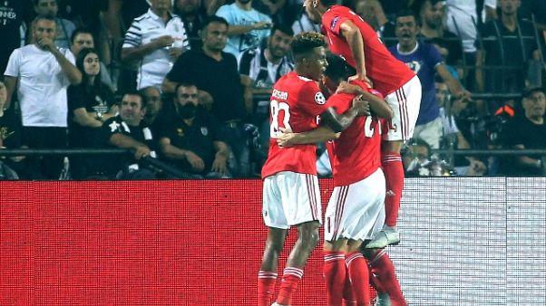 Champions: passano Benfica,Psv e S.Rossa
