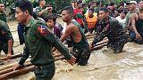 انهيار جزئي لسد في ميانمار يغرق 85 قرية
