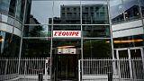 Siège du journal L'Equipe à Boulogne-Billancourt, le 27 novembre 2017