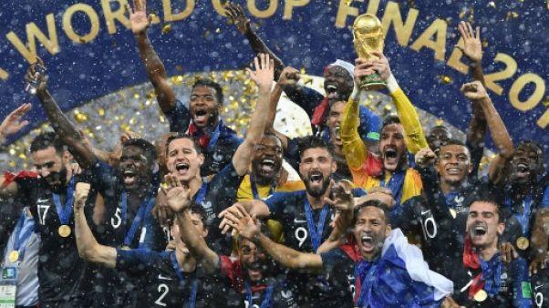 L'équipe de France championne du monde, à Moscou, le 15 juillet 2018