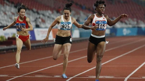 Bahrain's Odiong adds relay gold to sprint double in Jakarta
