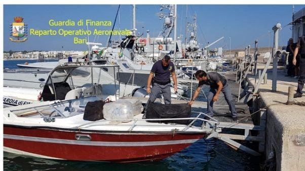 Maxi-sequestro marijuana largo Otranto