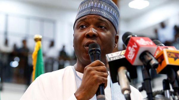 Nigeria's Senate leader says economy broken, plans to challenge president in vote