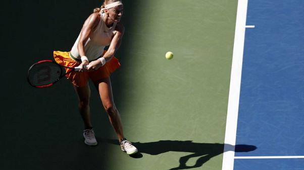 Kvitova topples Wang in second-round U.S. Open clash