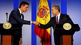Spain's Sanchez offers Colombia help to reach peace with ELN rebels