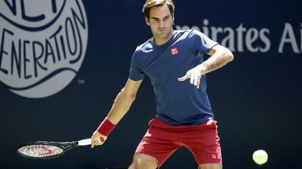Tennis: Us Open, avanza Federer