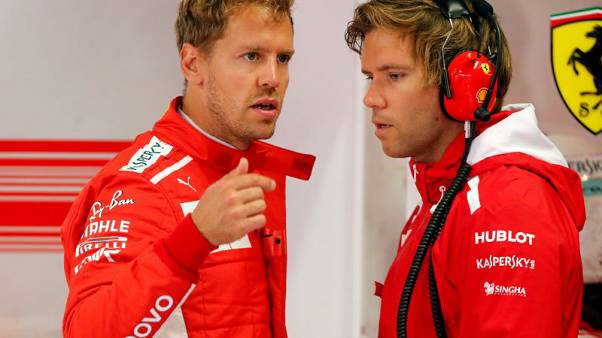Vettel sets the pace at Monza after big Ericsson crash