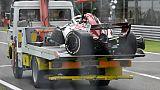 """F1: Ericsson (Sauber) """"ok"""" après un impressionnant accident aux essais du GP d'Italie"""