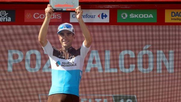 Tony Gallopin remporte la 7e étape du Tour d'Espagne le 31 août 2018