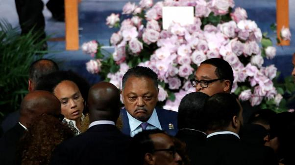 Aretha Franklin's funeral returns to her gospel roots