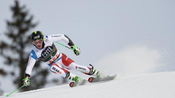 Le Suisse Justin Murisier lors de la Coupe du monde d'Aare le 17 mars 2018
