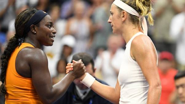 Stephens fends off Azarenka to continue bid for second U.S. Open prize