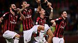 Italie: l'AC Milan fait tomber l'AS Rome à la dernière seconde