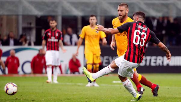 Last-gasp Cutrone goal gives Milan 2-1 win over Roma
