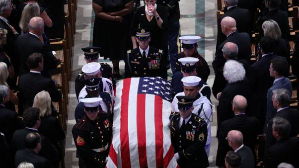 Obama, Meghan McCain rebuke absent Trump in tribute to fallen senator