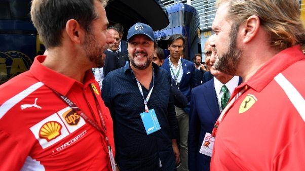F1: Salvini, auguri Ferrari? Agli altri