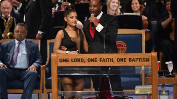 Ariana Grande au Greater Grace Temple de Detroit, Michigan, le 31 août 2018