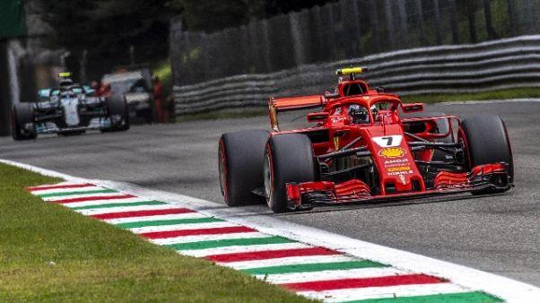 Monza: prima fila Ferrari,pole Raikkonen