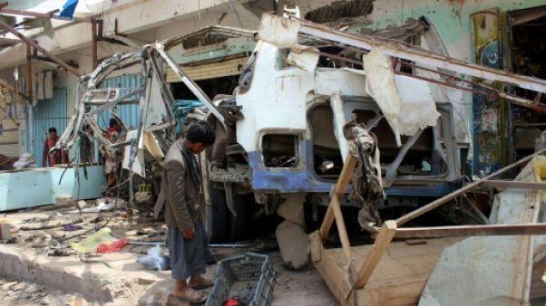 """Raid ayant tué 40 enfants au Yémen: la coalition admet des """"erreurs"""""""