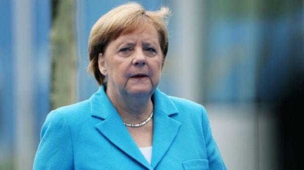 La chancelière allemande Angela Merkel à Bruxelles, le 12 juillet 2018