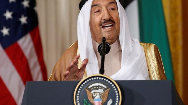 Kuwait emir announces visit to Washington, talks with Trump