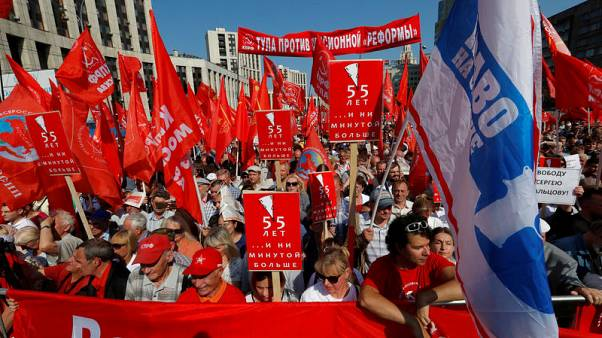 Despite Putin's concessions, Russians protest pension reform law
