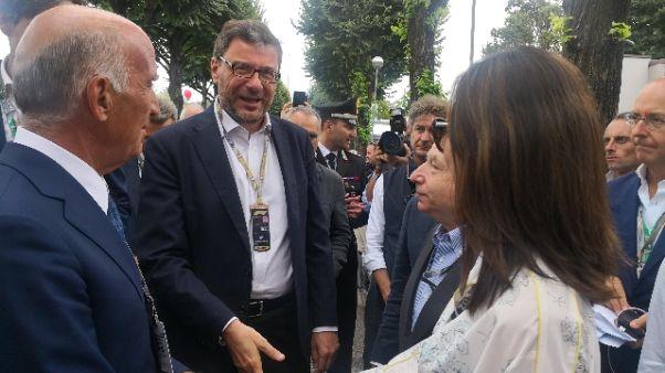 F1: Giorgetti e Gelmini arrivati a Monza