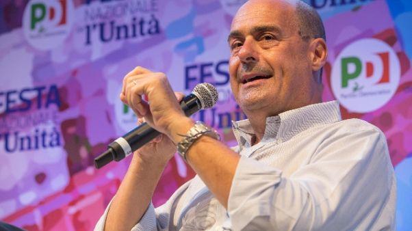 Pd: Zingaretti, no a alleanze con M5S