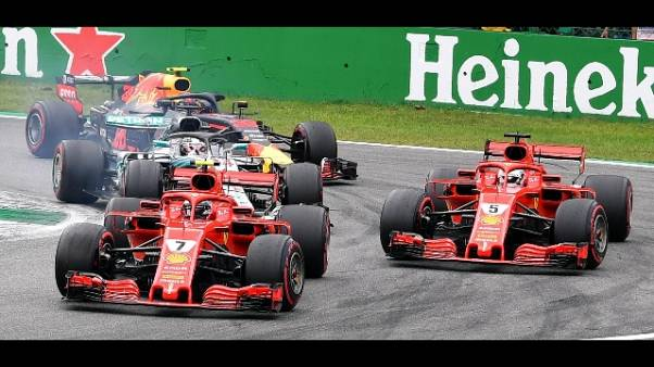 Raikkonen in testa,Hamilton beffa Vettel