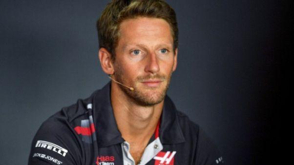 Romain Grosjean en conférence de presse à Monza le 30 août 2018