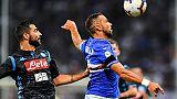 Samp: Quagliarella, tacco sul podio gol
