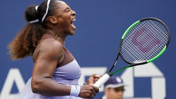 Serena survives scare from Kanepi to reach U.S. Open quarters