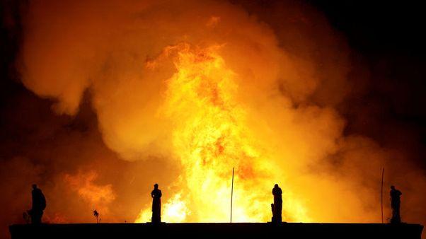 انتشار حريق هائل في المتحف الوطني بريو دي جانيرو