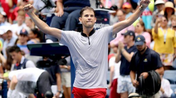 """US Open: Thiem espère être """"plus à l'aise"""" contre Nadal sur dur"""