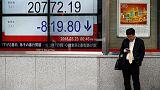 المؤشر نيكي الياباني يهبط بفعل التوترات التجارية