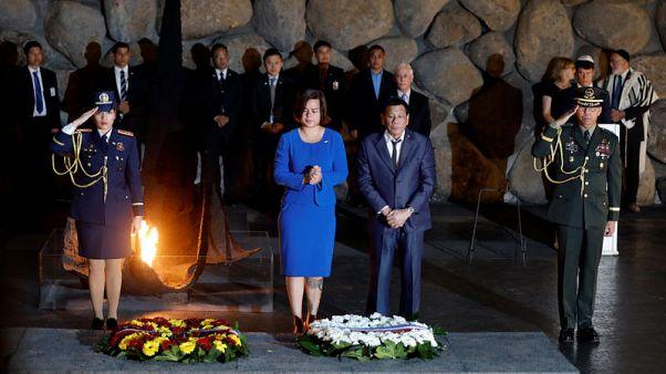 Philippines' Duterte says 'never again' at Israel's Holocaust memorial