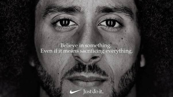 Nike features NFL's Kaepernick among athletes in 'Just Do It' campaign