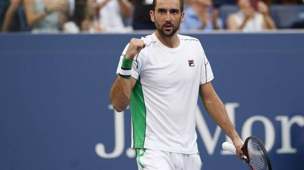 Cilic topples Goffin to reach U.S. Open quarter-finals