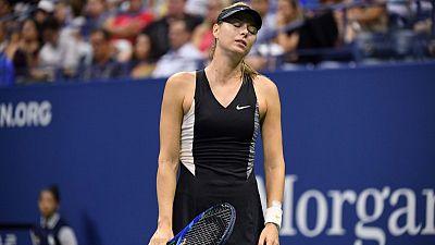 Sharapova beaten by birthday girl Suarez Navarro in New York