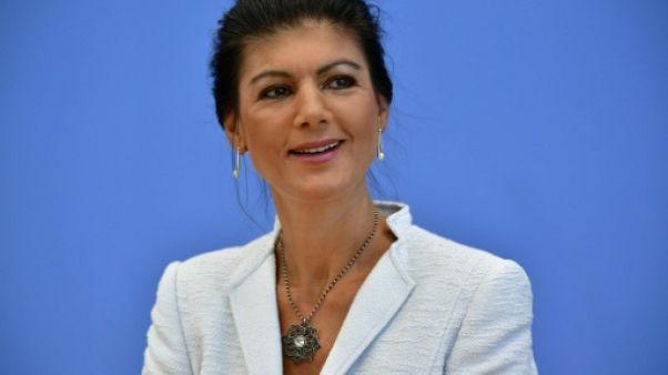 Sahra Wagenknecht à Berlin le 4 septembre 2018