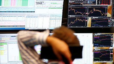 European shares rebound helped by financials; WPP down
