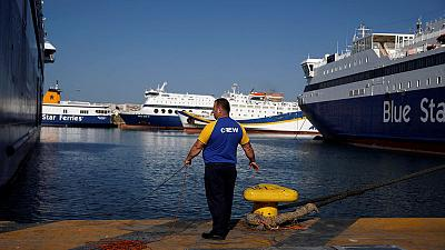 Greek ships remain docked at ports after seamen extend strike